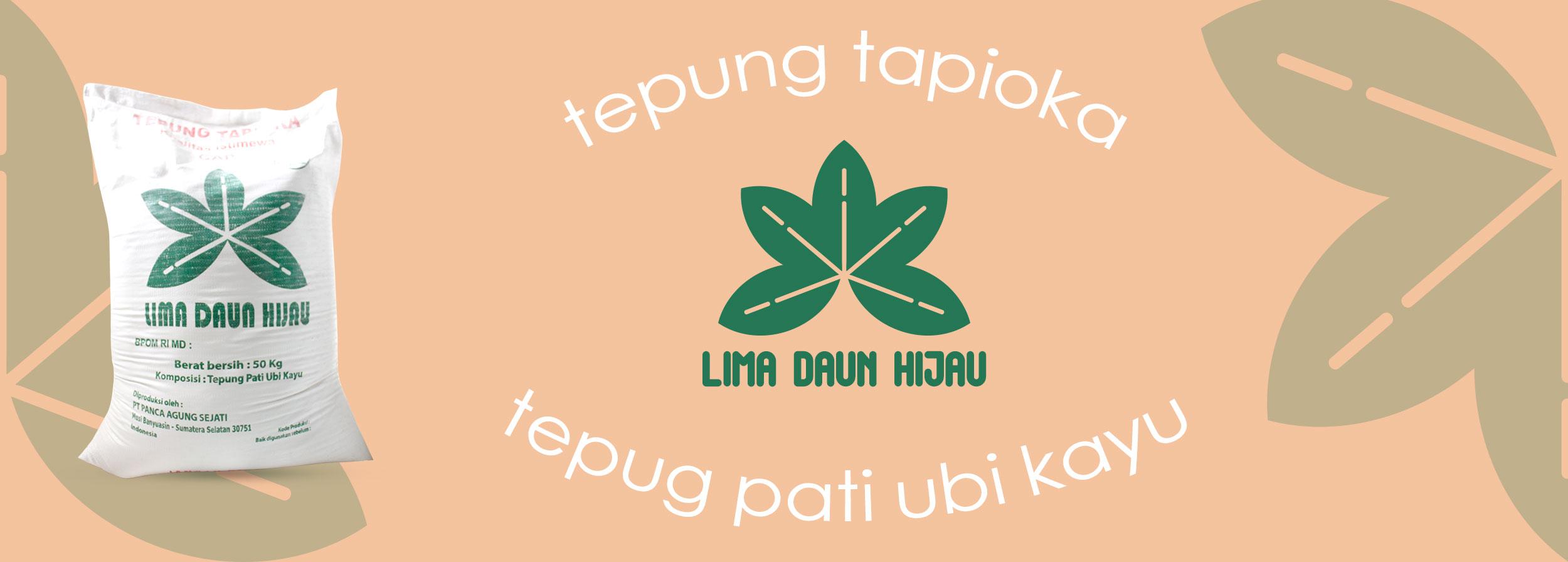 Tepung Tapioka Cap Lima Daun Hijau