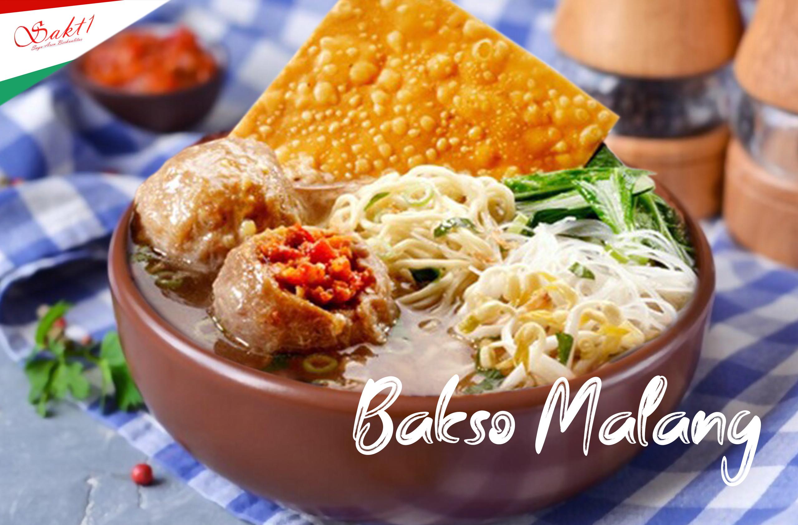 Resep Bakso Malang dengan tepung Sagu SAKTI