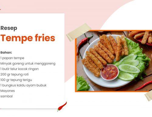 Resep Tempe Fries Tepung Panir