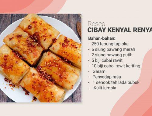 Resep Cibay Kenyal Renyah Tepung Tapioka